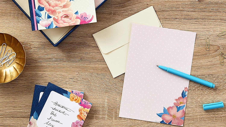 Vintage Kraft Paper Writing Paper Stationary Sets 32 Sheets and 16 Envelopes