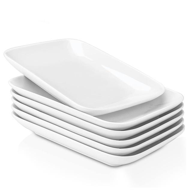 Delling 8 in Ultralight Rectangular Dessert/Salad Plates