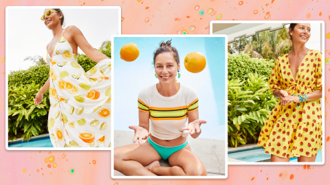 The J.Crew x Edie Parker Collab Is Full Of Fruity Prints & Beachy Vibes | StyleCaster