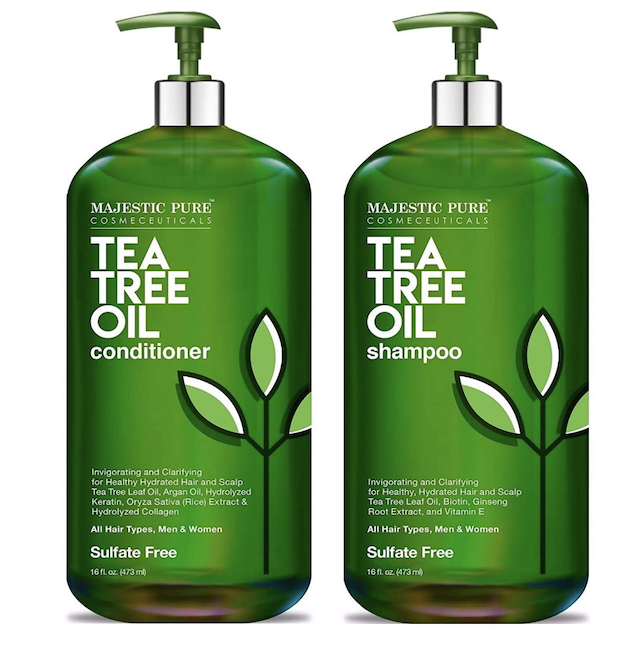 MAJESTIC PURE Tea Tree Shampoo and Conditioner Set