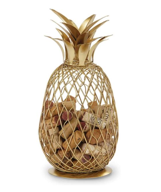 Golden Pineapple Cork Caddy Cork Holder