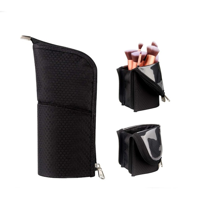 Makeup Brush Holder Organizer Bag