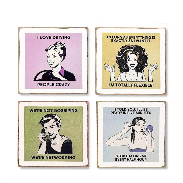 Zumatico Diva Funny Coasters for Drinks