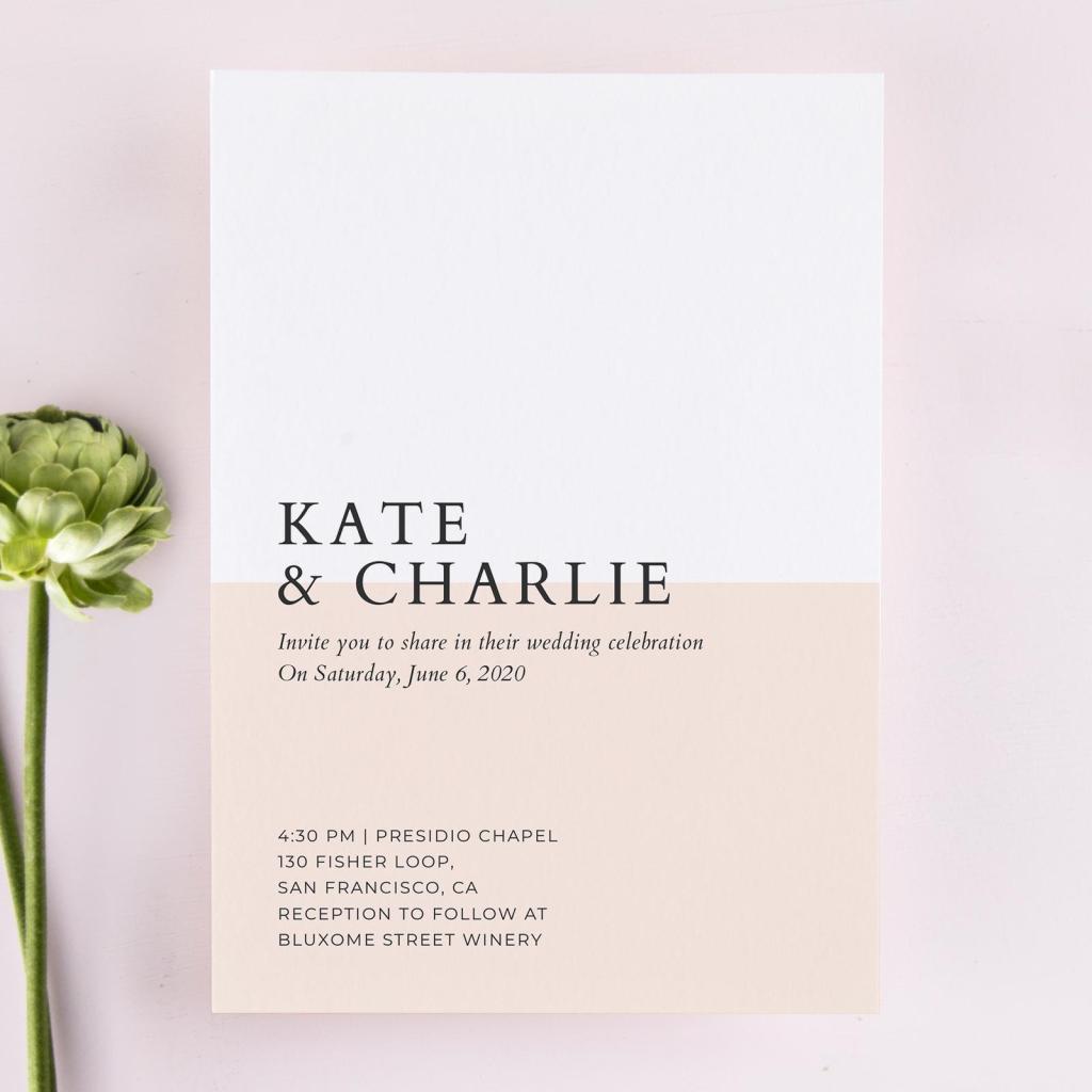 STYLECASTER   modern wedding invitation