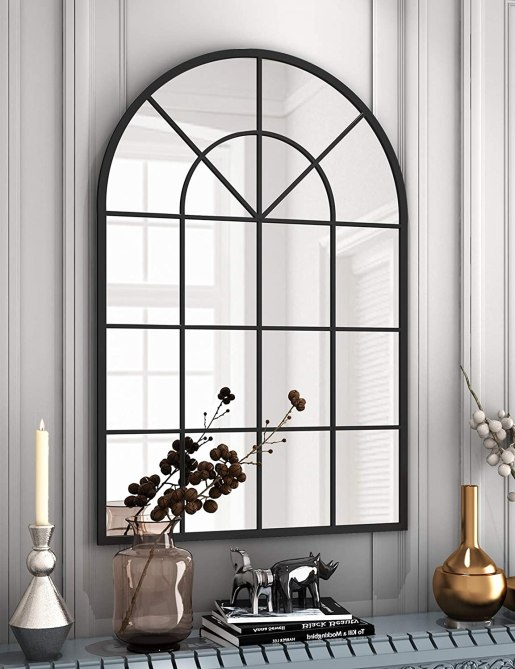 NXHOME Arched Window Finished Metal Mirror