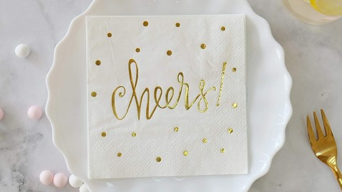Decorative Gold Foil Napkins That Are Perfect for Your Next Party | StyleCaster