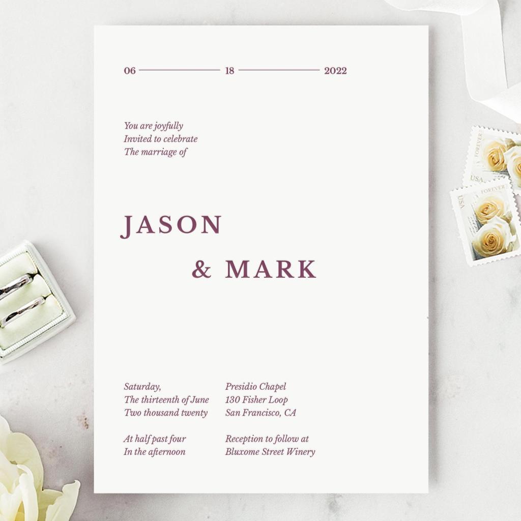 STYLECASTER   minimalist wedding invitation