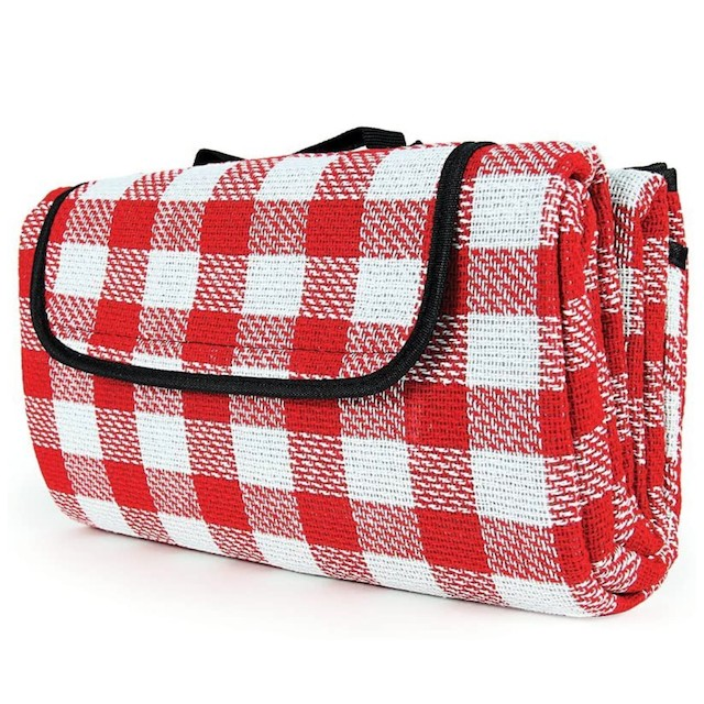 Camco Classic Red & White Checkered Picnic Blanket
