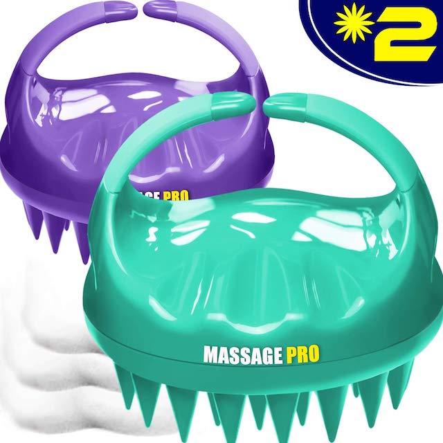 Massaggiatore per cuoio capelluto, confezione da 2