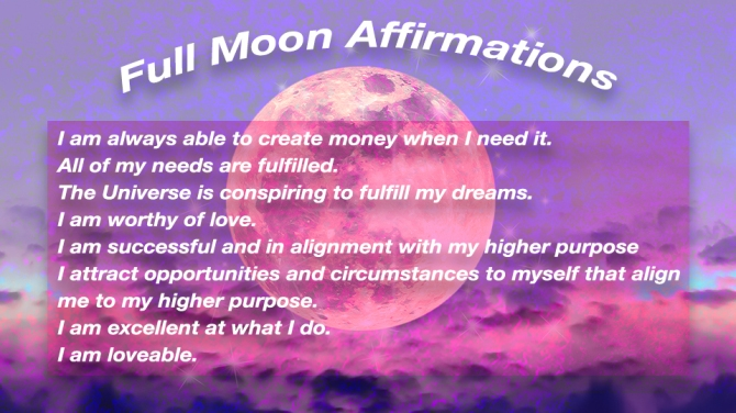 STYLECASTER | full moon affirmations