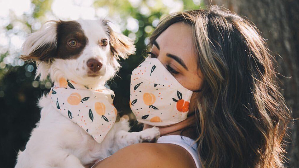 This Face Mask Comes With A Matching Dog Bandana So You Can Twin With Your Pup
