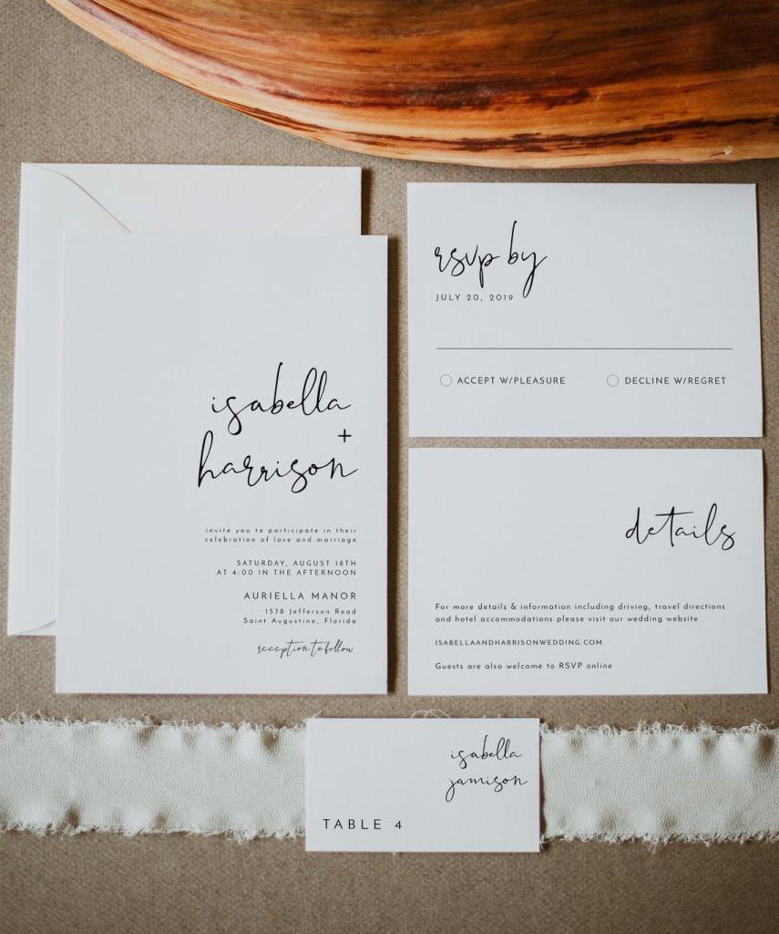 STYLECASTER   minimalist wedding invitations
