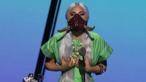 Lady Gaga's Face Masks Were The Real Winners At The VMAs | StyleCaster