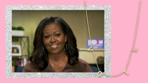 """You Can Get Your Own """"VOTE"""" Necklace & Twin With Michelle Obama   StyleCaster"""