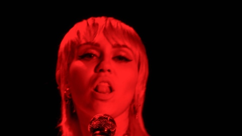 Miley Cyrus Legit Hopped on a Wrecking Ball During Her VMAs Performance of 'Midnight Sky' | StyleCaster