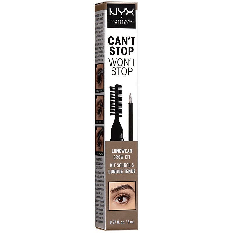 NYX Can't Stop Won't Stop brow challenge
