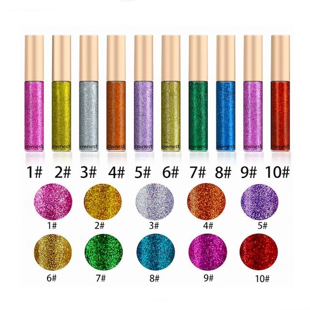 Ownest 10 Colors Liquid Glitter Eyeliner