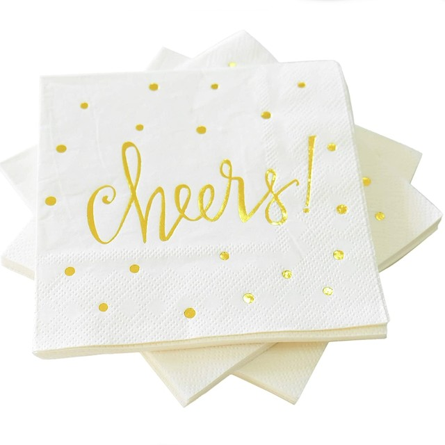 Pack of 50 Cheers Cocktail Party Napkins 3-Ply