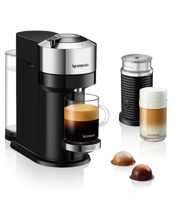 Nespresso by De'Longhi Vertuo Next & Aeroccino Milk Frother Coffee Maker