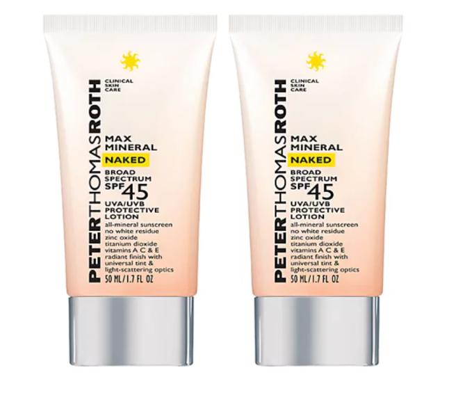 Peter Thomas Roth Max Mineral Naked SPF 45 Sunscreen Duo