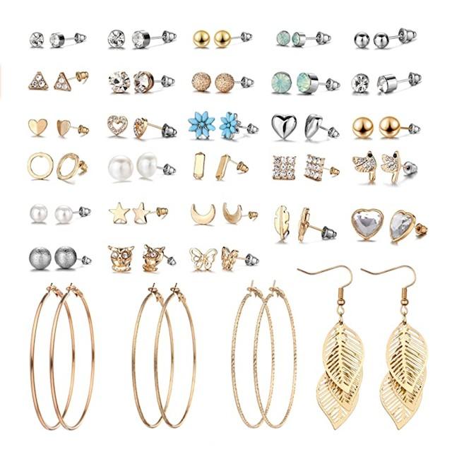 29 Pairs Assorted Multiple Stud Earrings