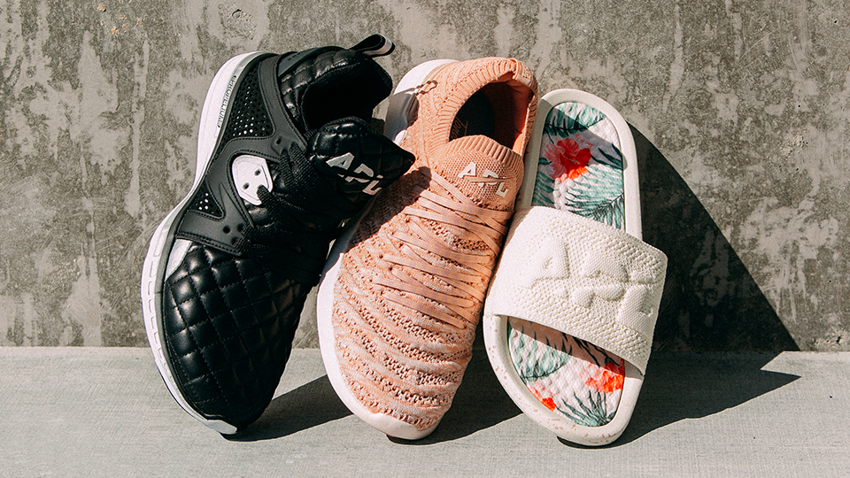 APL's Tone It Up Collab Includes Stylish Sneakers & Slides For Fall
