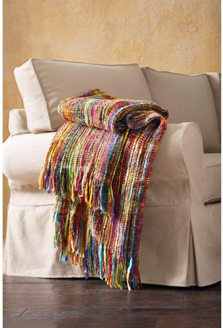 ART & ARTIFACT Fringe Throw Blanket