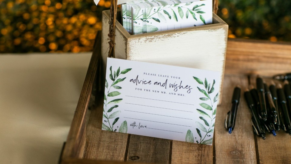 Cute Wedding Advice Cards for Your Big Celebration   StyleCaster