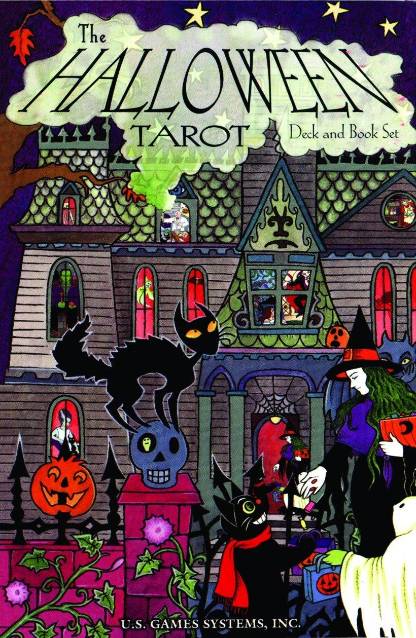 Cartas del tarot de halloween del sistema de juego de EE.  UU.