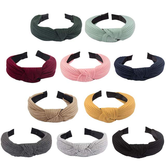 Jaciya 10 Pieces Knotted Headbands