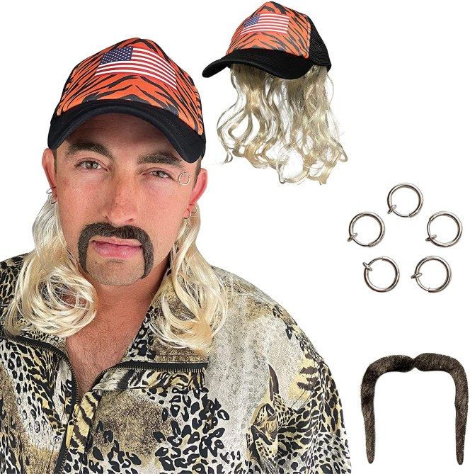 joe Exotic Halloween Costume: Wig & Mustache