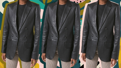 Instagram Has Inspired Me To Invest In A Leather Blazer For 2021 | StyleCaster