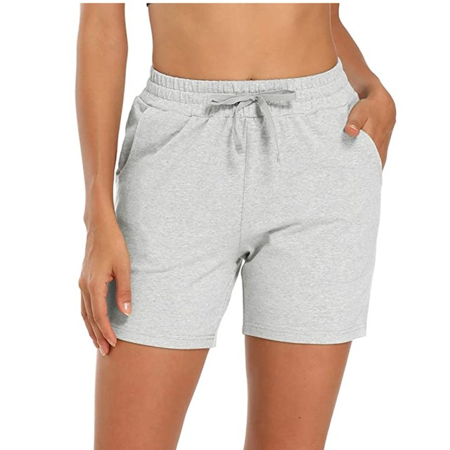 MOCOLY Women's Cotton Bermuda Yoga Shorts