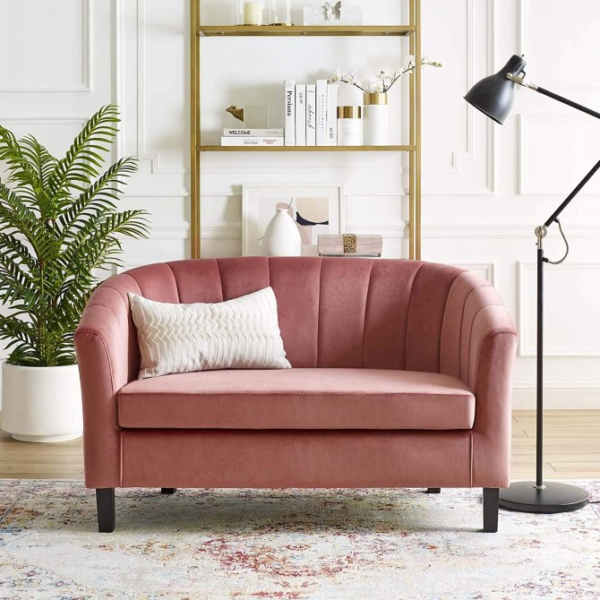 Modway velvet sofa amazon