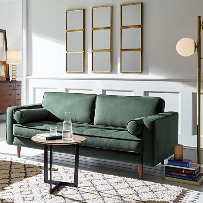 Rivet Aiden Mid-Century Modern Tufted Loveseat Sofa