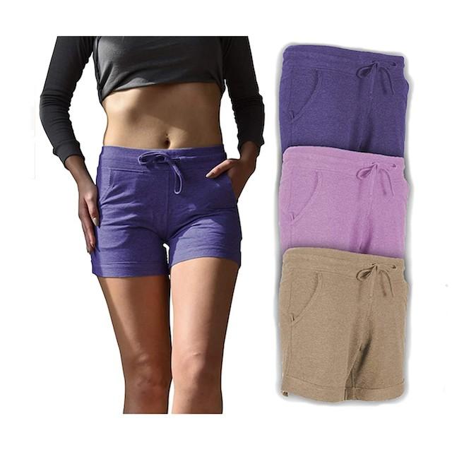 Sexy Basics Women's 3 Pack Active Wear Lounge Short