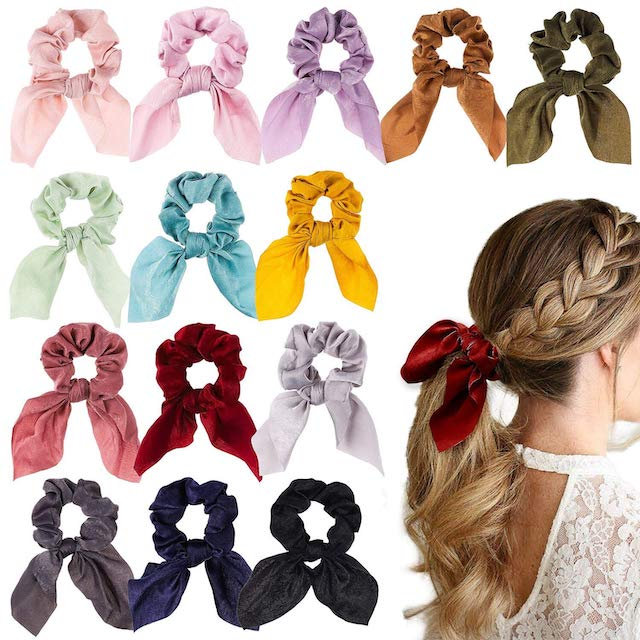 WATINC 14 Pcs Bowknot Hair Scrunchies