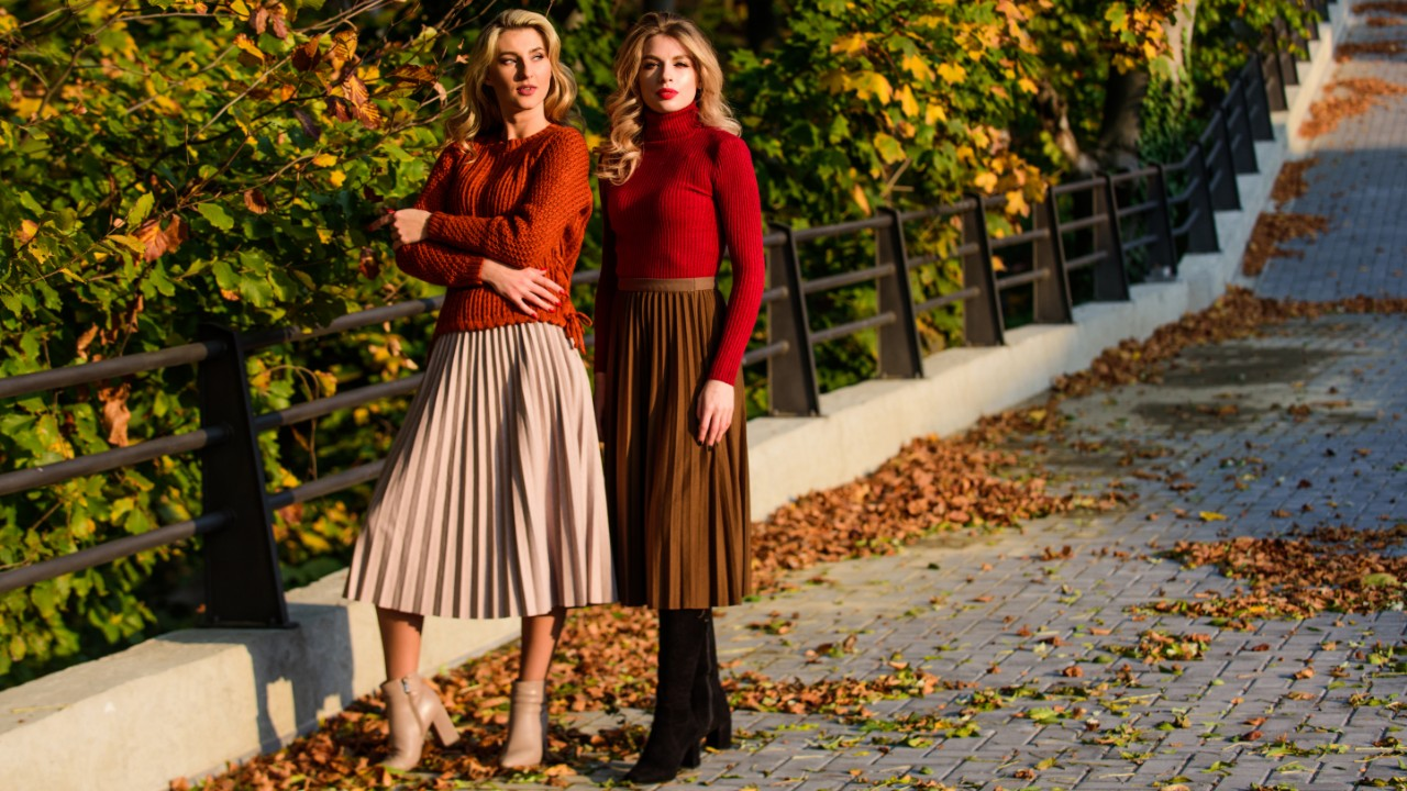 Flattering Pleated A-Line Skirts That You'll Love