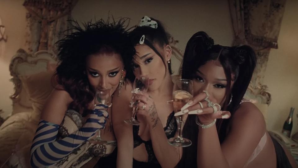 "Ariana Grande, Doja Cat, Megan Thee Stallion, ""34 + 35"" Music Video"