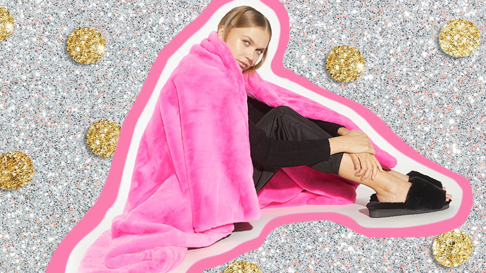 Apparis' New Home Collection Has THE Coziest Faux Fur Blankets