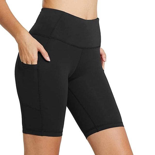BALEAF Women's High Waist Workout Biker Shorts