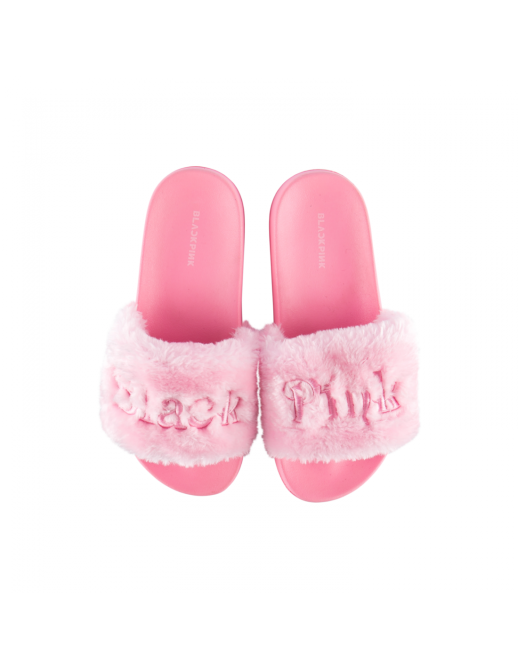 blackpink in your area goods slide fur slipper BLACKPINKs Merch Inspired by Their New Album Is Here & Its Going Fast