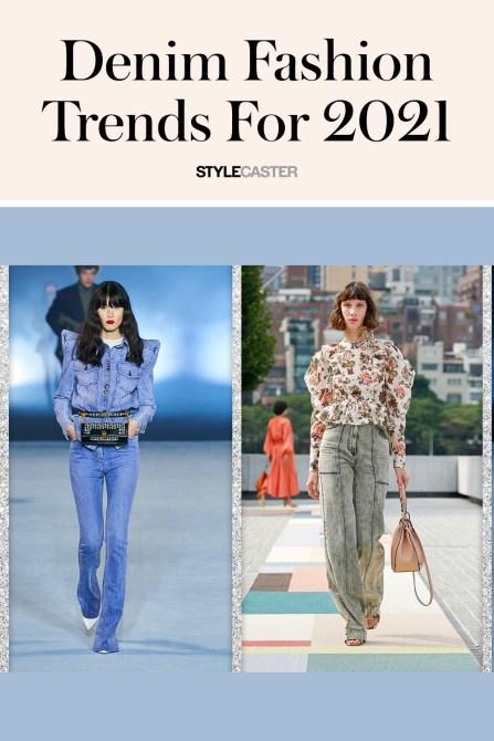 STYLECASTER   denim fashion trends 2021