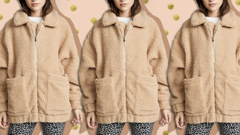 Bella Hadid & Selena Gomez's Teddy Bear Coat Is On Sale Right Now For Prime Day | StyleCaster