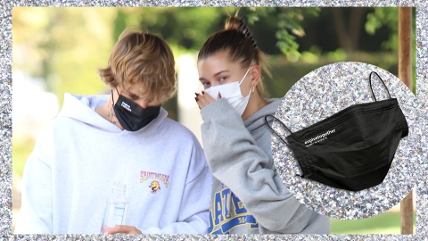 Justin & Hailey Bieber Can't Get Enough Of These Chic, Affordable Face Masks | StyleCaster