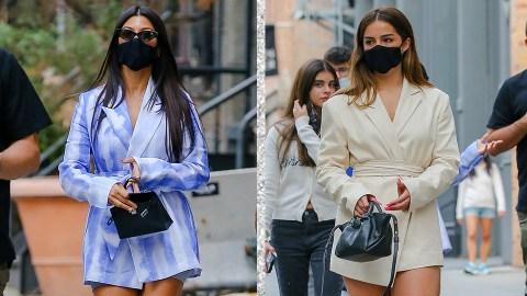 Kourtney Kardashian & Addison Rae Look Cute AF Twinning In NYC | StyleCaster