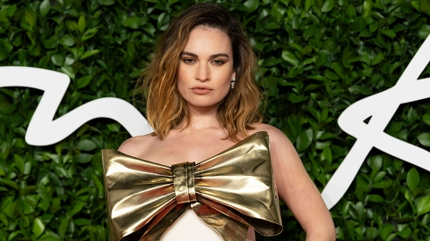 Lily James Cancels Show Interviews After Rumors She Cheated With Dominic West | StyleCaster