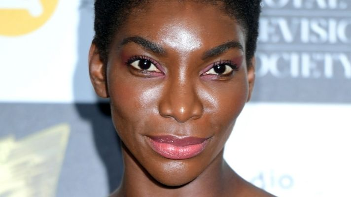 Michaela Coel Matched Her Purple Buzzcut to Her Eyebrows and I Can't Look Away