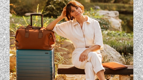 Away Teamed Up With Rashida Jones To Drop The Coolest Luggage Of 2020 | StyleCaster