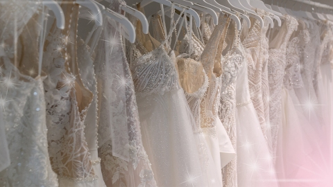 These 2021 Wedding Dress Trends Are Pin Now, Wear Later Material | StyleCaster
